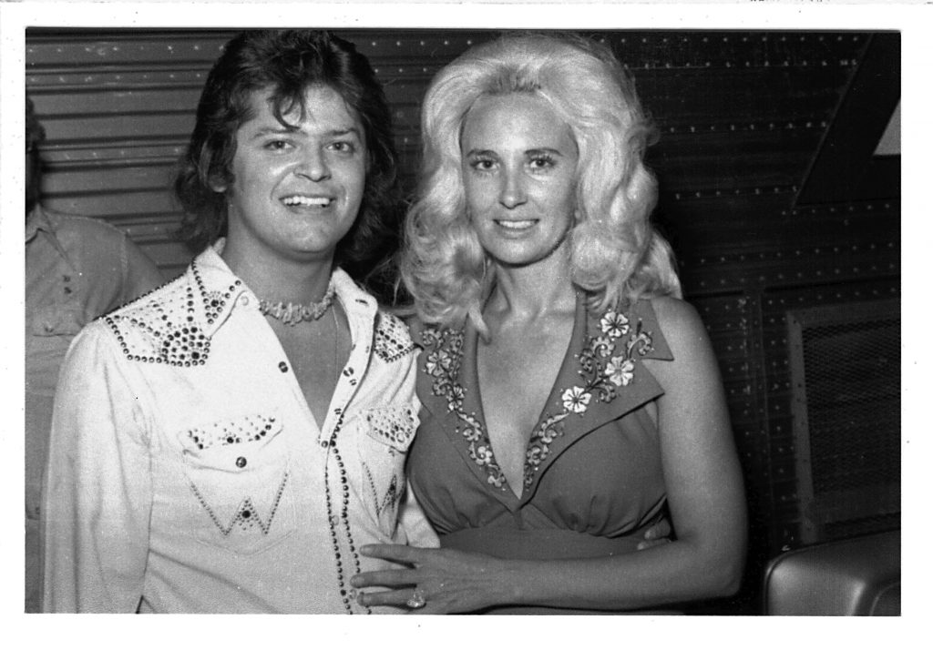 PHotograph of Johnny Rodrígiez and Tammy Wynette